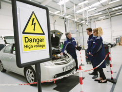 Safe working with electric vehicles
